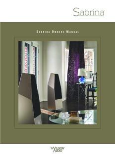 Sabrina Manual for the Sabrina Loudspeaker