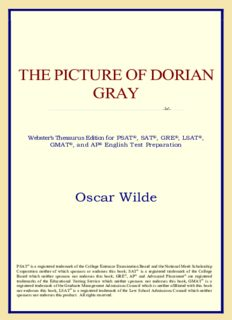 The Picture of Dorian Gray (Webster's Thesaurus Edition)