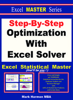 Step-By-Step Optimization With Excel Solver The Excel Statistical