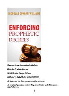 Enforcing Prophetic Decrees - Nicholas Duncan-Williams