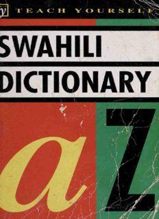 Concise Swahili and English Dictionary: Swahili-English/English-Swahili