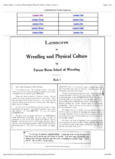 Lessons in Wrestling & Physical Culture (Catch Wrestling) - Farmer Burns.pdf