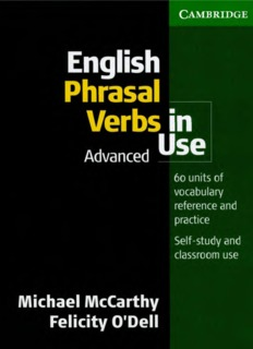Advanced English Phrasal Verbs in Use
