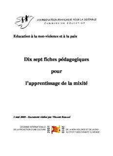 Dix sept fiches pédagogiques pour l'apprentissage de la mixité