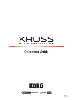 KROSS Operation Guide - Korg