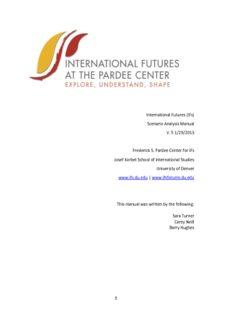 (IFs) Scenario Analysis Manual V. 5 1/29/2013 Frederick S. Pardee Center for IFs Josef Korbel ...
