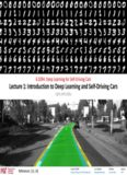 Introduction to Deep Learning and Self-Driving Cars