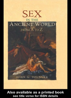 Sex in the Ancient World from A to Z