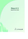 Abaqus/CAE User's Manual