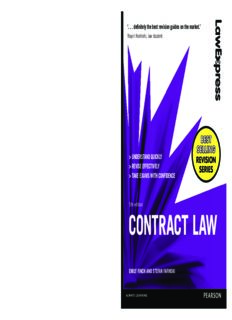 Contract Law: Uk Edition
