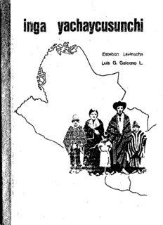Inga yachaycusunchi (Aprendamos inga: Gramática pedagógica del inga)