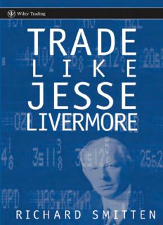 Trade Like Jesse Livermore (Wiley Trading)