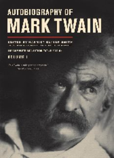 Autobiography of Mark Twain / 1 The Mark Twain papers