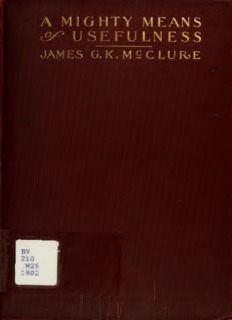 Intercessory Prayer by James G. K. McClure