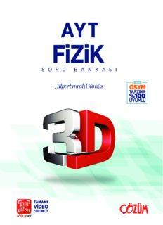 Çözüm 3D AYT Fizik Soru Bankası 2018-19