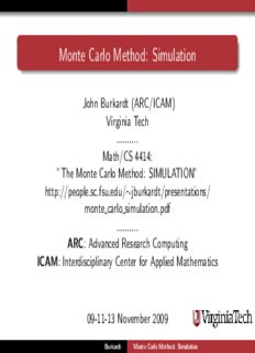 Monte Carlo Method: Simulation