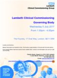 Lambeth Clinical Commissioning Governing Body