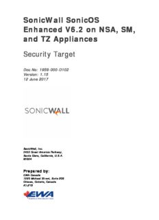 Security Target SonicWall SonicOS Enhanced V6.2.5 on NSA, SM, and TZ Appliances