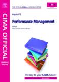 CIMA P2 Performance Management