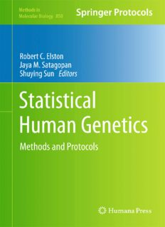 Statistical Human Genetics - Methods and Protocols; Volume 850 of Methods in Molecular Biology – Humana-Springer