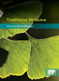 Traditional Medicine by Steven B Kayne
