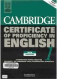 Cambridge Certificate of Proficiency in English 5 Self Study Pack: Examination Papers from University of Cambridge ESOL Examinations
