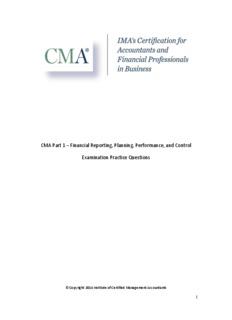 CMA Part 1