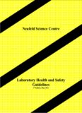 Laboratory Health and Safety Guidelines Neufeld Science Centre