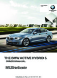 the bmw active hybrid 5 owners manual