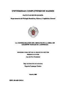 La configuración del espacio en la obra de Giuseppe Tomasi di Lampedusa
