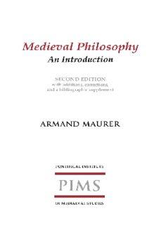 Medieval Philosophy (Etienne Gilson Series)