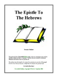 The Epistle To The Hebrews - Executable Outlines - Free sermon