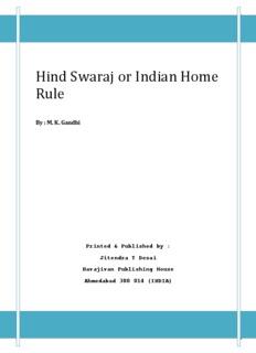 Hind Swaraj or Indian Home Rule - M. K. Gandhi