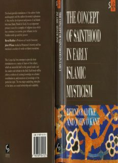 The Concept of Sainthood in Early Islamic Mysticism: Two Works by Al-Hakim al-Tirmidhi - An Annotated Translation with Introduction (Routledgecurzon Sufi Series)