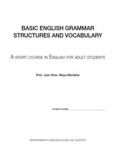BASIC ENGLISH GRAMMAR STRUCTURES AND VOCABULARY