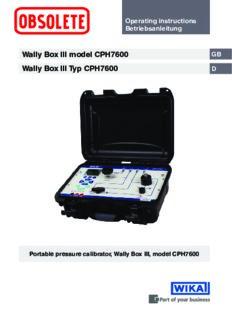 Wally Box III model CPH7600 Wally Box III Typ CPH7600