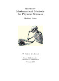 Mathematical Methods for Physical Sciences