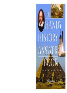 The Handy History Answer Book, Second Edition (The Handy Answer Book Series)