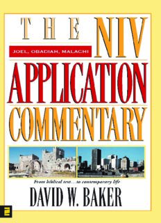Joel, Obadiah, Malachi (NIV Application Commentary, The)