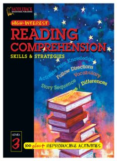 Reading Comprehension Skills & Strategies Level 3 (Highinterest Reading Comprehension Skills & Strategies)