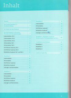 Mit Erfolg zum Goethe-Zertifikat C1 Testbuch (without CDs)