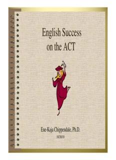 ACT Prep Notes