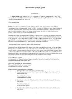 Descendants of Hugh Quinn - Hernandez Family Web Site