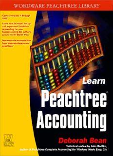 Learn Peachtree Accounting by Deborah Bean