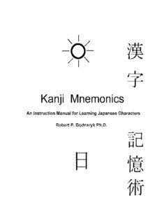 Kanji mnemonics = Kanji kiokujutsu : an instruction manual for learning Japanese characters