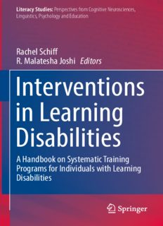 Interventions in Learning Disabilities: A Handbook on Systematic Training Programs for Individuals with Learning Disabilities