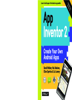 OReilly App Inventor 2, Create Your Own Android Apps