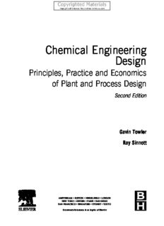 Chemical Engineering Design - Principles, Practice and Economics of Plant and Process Design