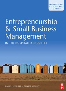 Entrepreneurship & Small Business Management in the Hospitality