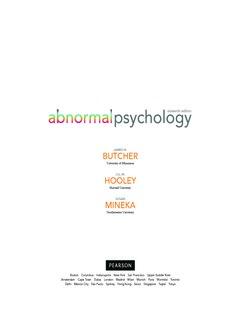 Abnormal Psychology 16E (Butcher et al).